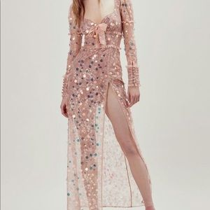 For Love and Lemons Lace Maxi Dress Sequins
